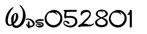 Wds052801 Font