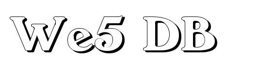 We5 DB Font