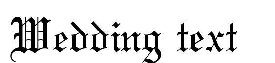 Шрифт Wedding text
