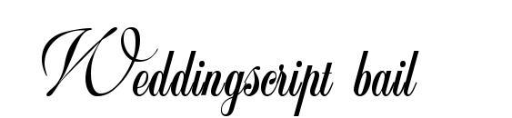 Weddingscript bail Font