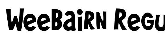 WeeBairn Regular Font, Sans Serif Fonts