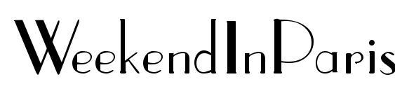 WeekendInParis Regular Font, Sans Serif Fonts