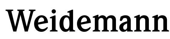 Шрифт Weidemann Bold BT