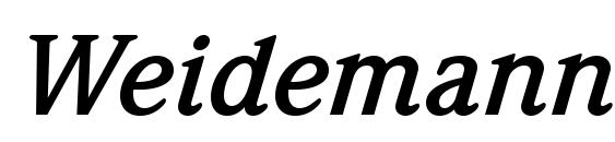 Шрифт Weidemann Bold Italic BT