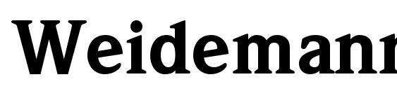 WeidemannStd Black Font