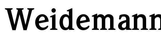 WeidemannStd Bold Font