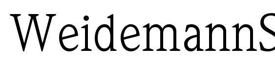 WeidemannStd Book Font