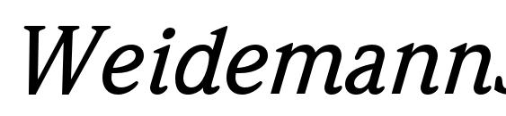 WeidemannStd MediumItalic Font