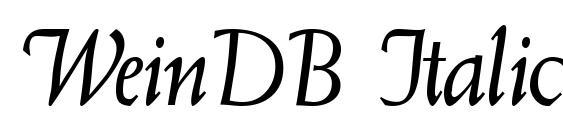 WeinDB Italic Font, Handwriting Fonts