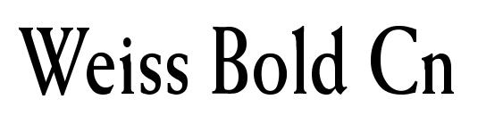 Weiss Bold Cn Font, Beautiful Fonts