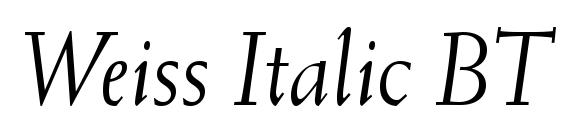 Weiss Italic BT Font