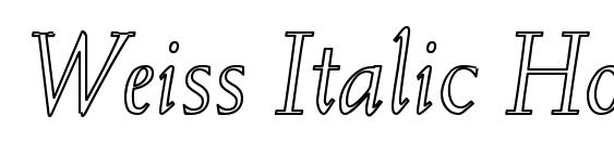 Weiss Italic Hollow Font