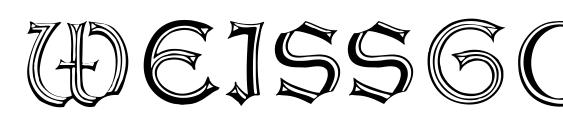 WeissGotnitials Font, Retro Fonts