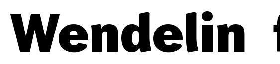 Wendelin fett Font