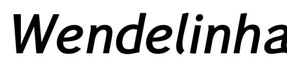 Wendelinhalbfettkursiv Font