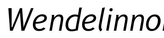 Wendelinnormalkursiv Font