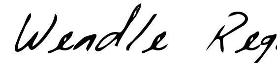 Wendle Regular Font