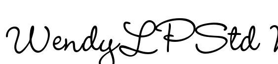WendyLPStd Medium Font, Elegant Fonts