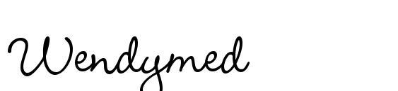 Wendymed font, free Wendymed font, preview Wendymed font