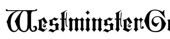 WestminsterGotisch Font, Retro Fonts