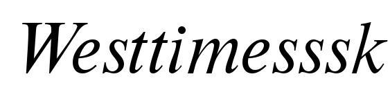 Westtimesssk italic Font