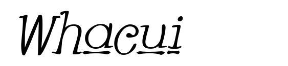 Whacui Font, Handwriting Fonts