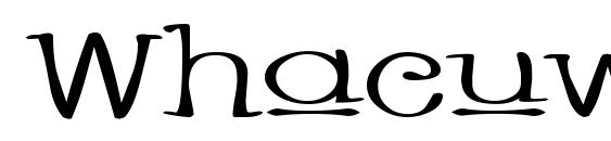 Whacuw Font