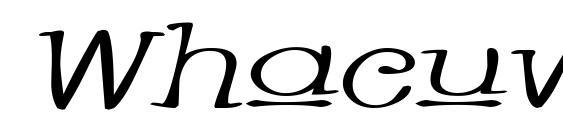 Whacuwi Font