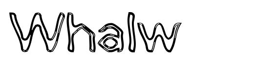 Whalw Font