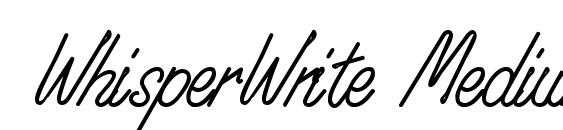 WhisperWrite Medium Font, Pretty Fonts