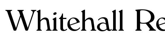 Whitehall Regular Font