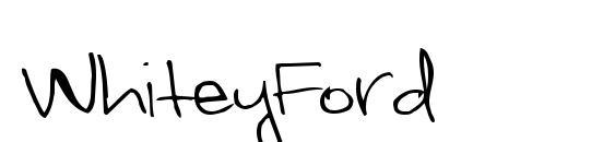WhiteyFord Font