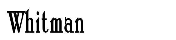 Whitman Font