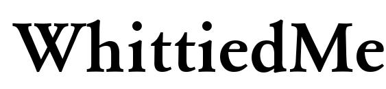 WhittiedMedium Font