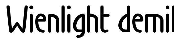 Wienlight demibold Font