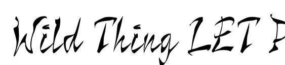 Wild Thing LET Plain.1.0 Font, Pretty Fonts