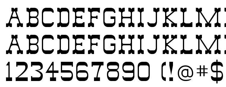 glyphs Wild west font, сharacters Wild west font, symbols Wild west font, character map Wild west font, preview Wild west font, abc Wild west font, Wild west font
