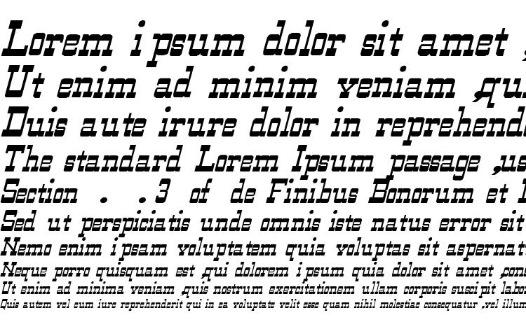 specimens WildWest Normal Italic font, sample WildWest Normal Italic font, an example of writing WildWest Normal Italic font, review WildWest Normal Italic font, preview WildWest Normal Italic font, WildWest Normal Italic font