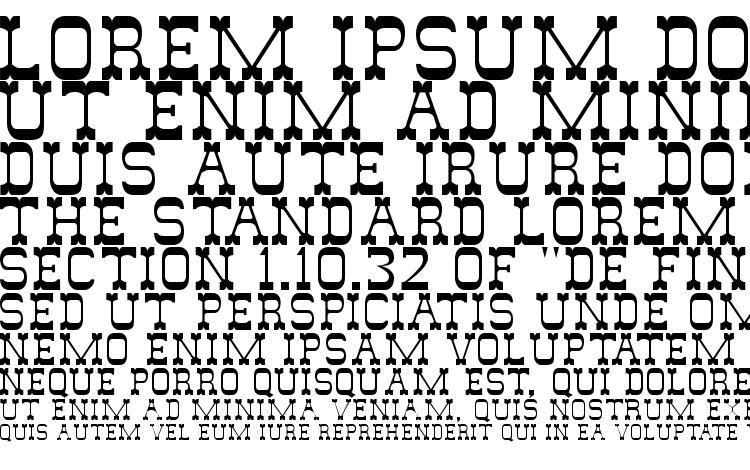 specimens Wildwest font, sample Wildwest font, an example of writing Wildwest font, review Wildwest font, preview Wildwest font, Wildwest font