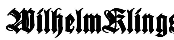 WilhelmKlingsporGotisch Bold Font