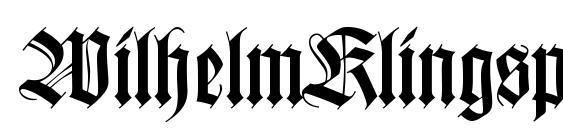 WilhelmKlingsporGotisch Font
