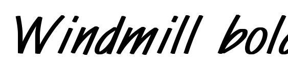 Windmill bold Font, Handwriting Fonts