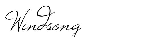 Windsong Font, Handwriting Fonts