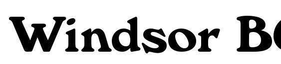 Windsor BOLD Font