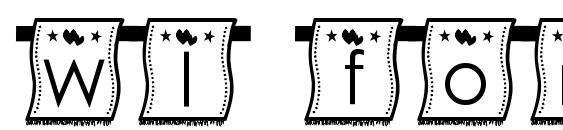 Шрифт Wl font