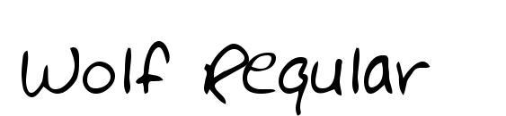 Wolf Regular Font, Handwriting Fonts