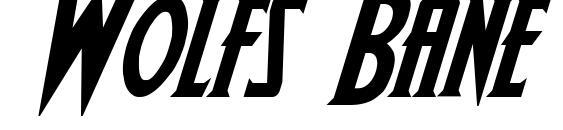 Wolfs Bane Bold Italic Font