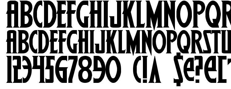 glyphs Wolfs Bane Bold font, сharacters Wolfs Bane Bold font, symbols Wolfs Bane Bold font, character map Wolfs Bane Bold font, preview Wolfs Bane Bold font, abc Wolfs Bane Bold font, Wolfs Bane Bold font