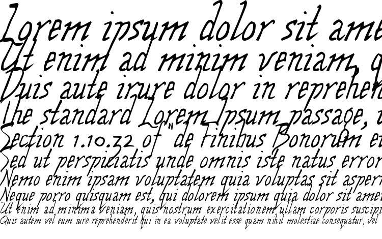 specimens Wolven script font, sample Wolven script font, an example of writing Wolven script font, review Wolven script font, preview Wolven script font, Wolven script font