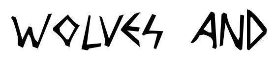 Wolves and Ravens Font, Sans Serif Fonts